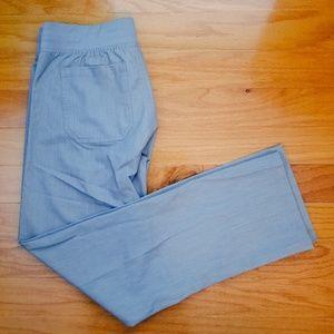 Figs Livingston scrub pants, heather indigo